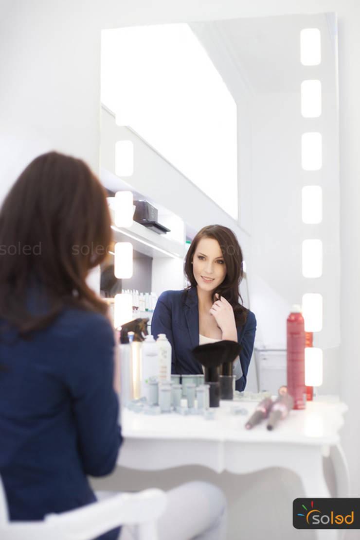 Lustra LED Pattern Light marki Soleda Mirror – na wymiar: styl , w kategorii Spa zaprojektowany przez SOLED Projekty i Dekoracje Świetlne Jacek Solka,
