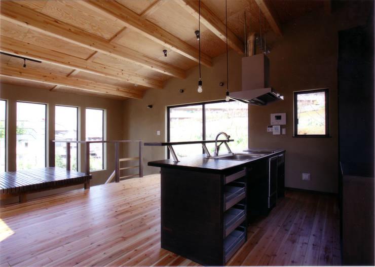 キッチンよりダイニングを見る: 豊田空間デザイン室 一級建築士事務所が手掛けたキッチンです。