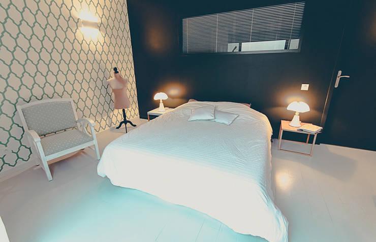 CHAMBRE AMIS: Chambre de style  par ATELIER ARTEFAKT
