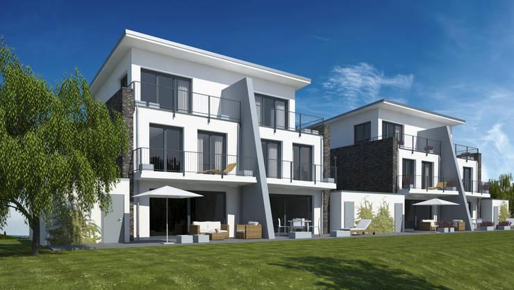 Wohnen am Park:  Häuser von Gritzmann Architekten