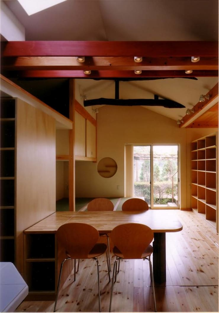 Dining room by 豊田空間デザイン室 一級建築士事務所, Eclectic Wood Wood effect