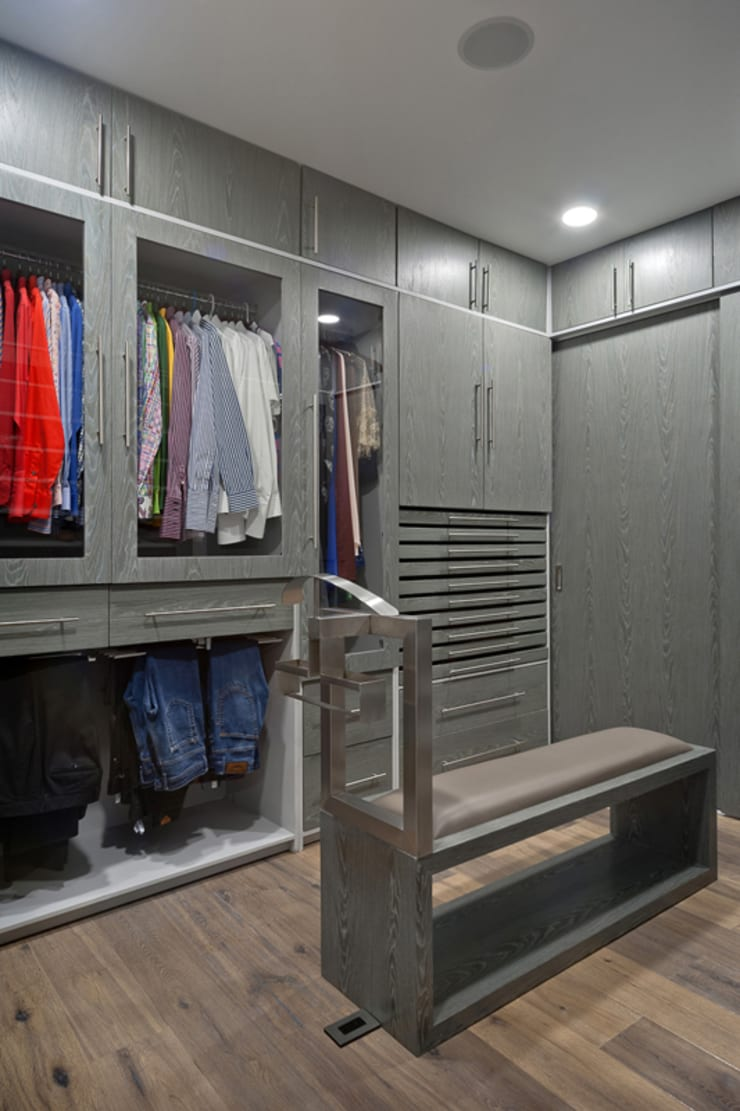 DEPARTAMENTO EN CUERNAVACA: Vestidores y closets de estilo  por HO arquitectura de interiores