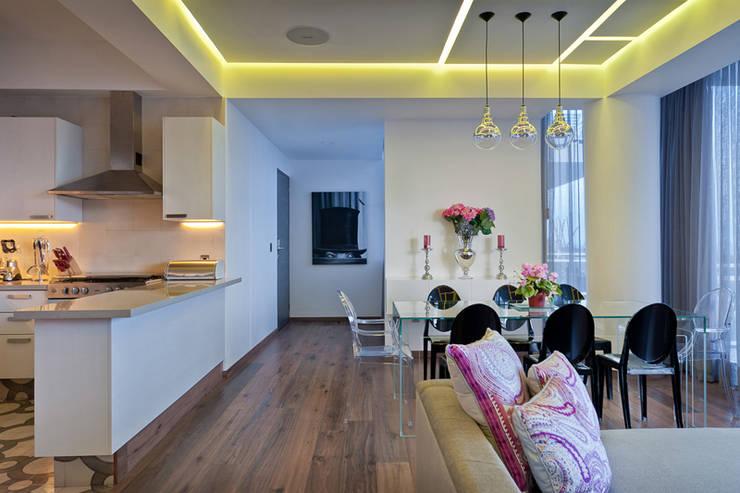 DEPARTAMENTO EN CUERNAVACA: Comedores de estilo  por HO arquitectura de interiores