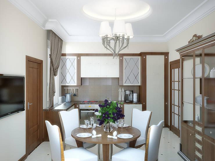 Коттедж в Троицке : Кухни в . Автор – Симуков Святослав частный дизайнер интерьера