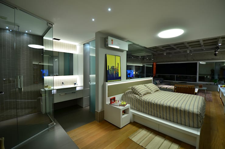 Bedroom by HECHER YLLANA ARQUITETOS