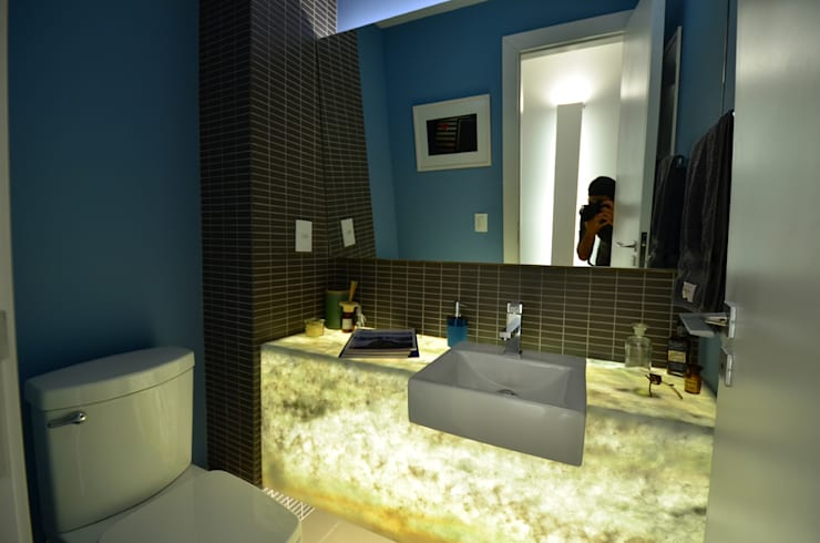 Lavabo: Banheiros  por HECHER YLLANA ARQUITETOS