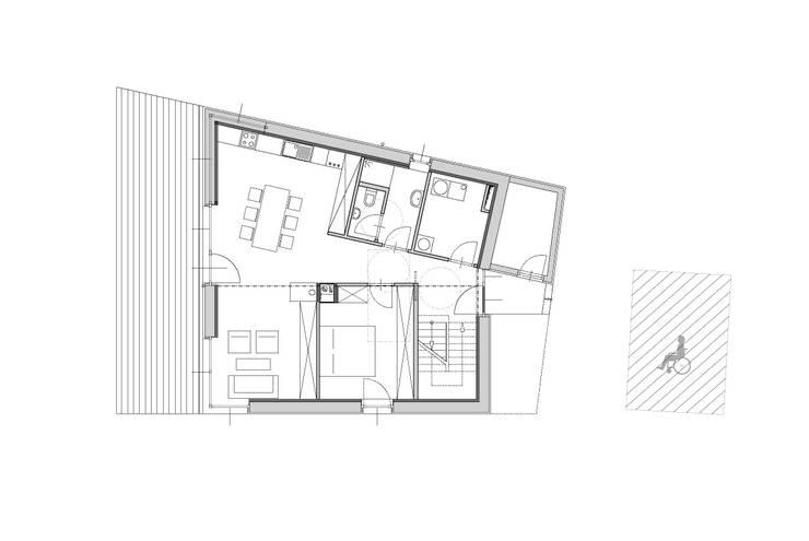 Grundriss Erdgeschoß:   von Symbios Architektur