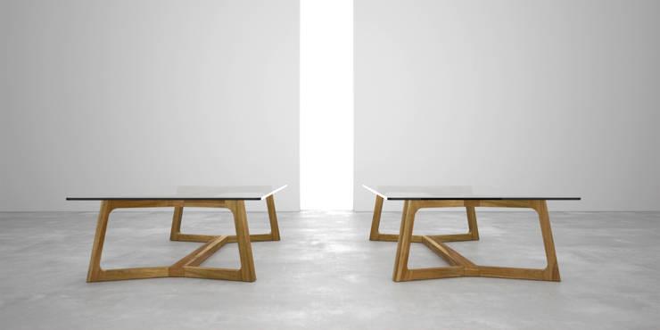 Mesa ratona doble T: Livings de estilo  por Forma muebles,