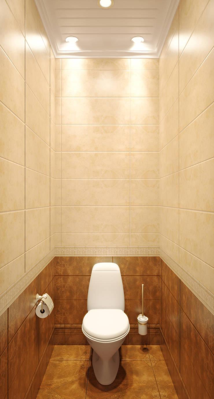 Квартира в городе Королев : Ванные комнаты в . Автор – Симуков Святослав частный дизайнер интерьера