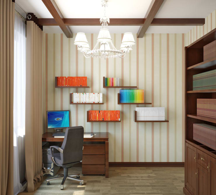 Квартира в городе Королев : Рабочие кабинеты в . Автор – Симуков Святослав частный дизайнер интерьера