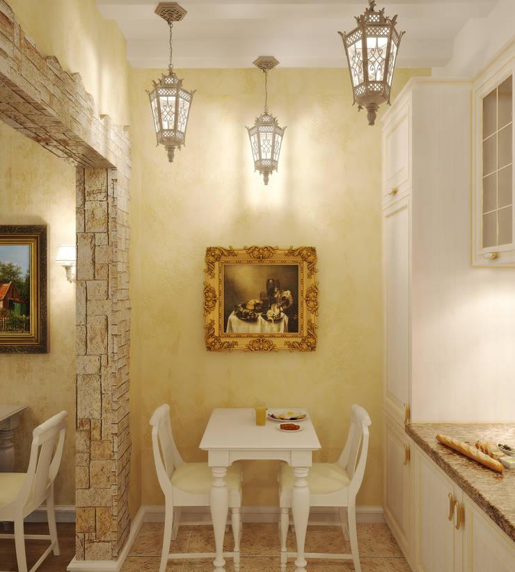 Квартира в городе Королев : Кухни в . Автор – Симуков Святослав частный дизайнер интерьера
