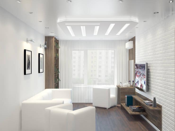 Квартира в Перово : Гостиная в . Автор – Симуков Святослав частный дизайнер интерьера