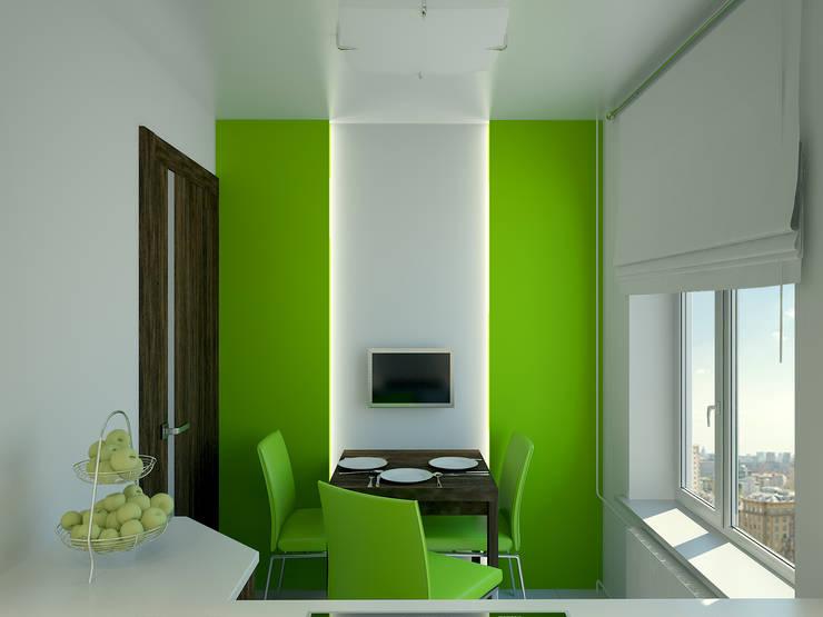 Квартира в Перово : Кухни в . Автор – Симуков Святослав частный дизайнер интерьера