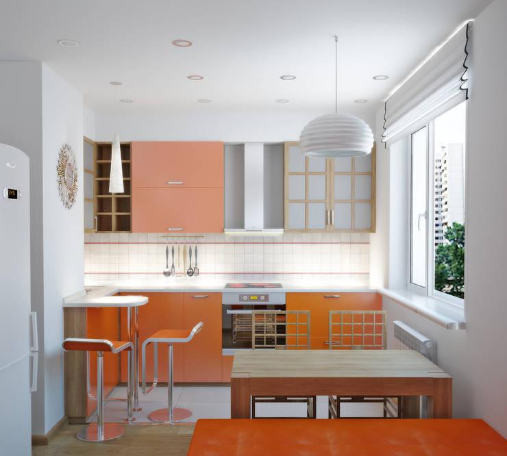 Квартира на Таганке: Кухни в . Автор – Симуков Святослав частный дизайнер интерьера