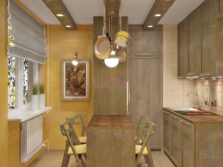 Квартира на улице Нахимова: Кухни в . Автор – Симуков Святослав частный дизайнер интерьера,