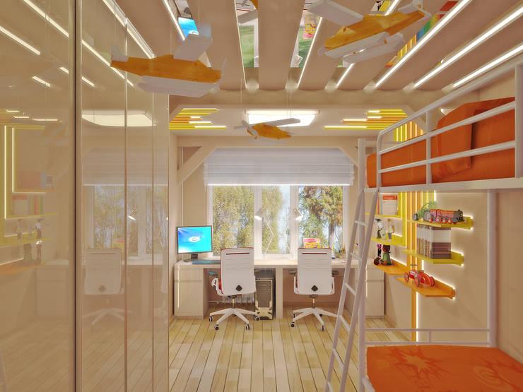 Nursery/kid's room by Симуков Святослав частный дизайнер интерьера