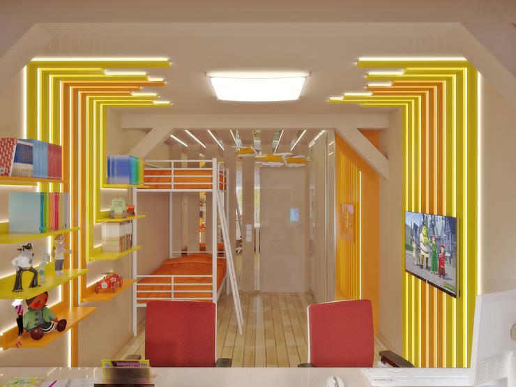 Квартира на улице Нахимова: Детские комнаты в . Автор – Симуков Святослав частный дизайнер интерьера,