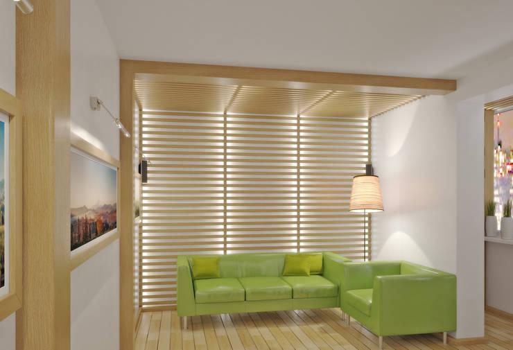 Квартира на улице Нахимова: Гостиная в . Автор – Симуков Святослав частный дизайнер интерьера,