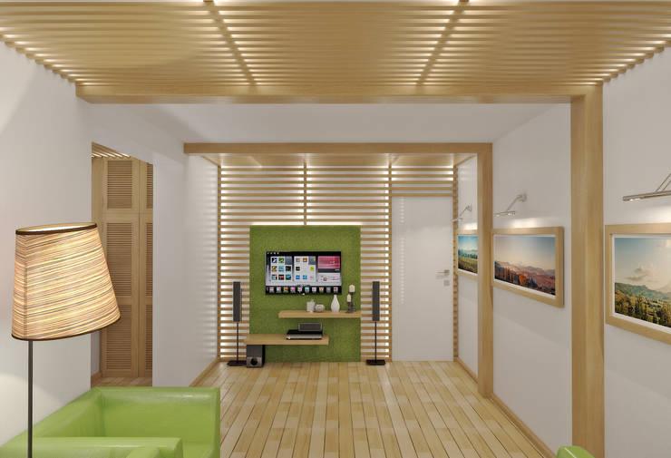 Living room by Симуков Святослав частный дизайнер интерьера