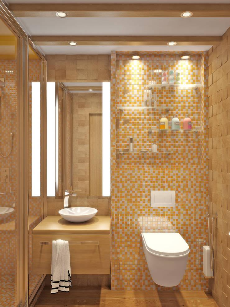 Квартира на улице Нахимова: Ванные комнаты в . Автор – Симуков Святослав частный дизайнер интерьера,