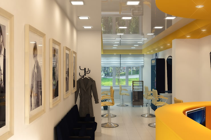 Салон красоты <q>Ollin</q>: Рабочие кабинеты в . Автор – Симуков Святослав частный дизайнер интерьера, Минимализм
