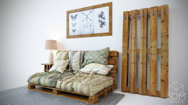 студия визуализации и дизайна интерьера '3dm2'が手掛けた寝室