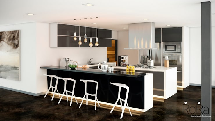 modern Kitchen by LA RORA Interiorismo & Arquitectura