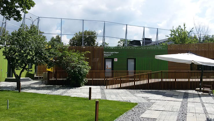 Проект административных,бытовых здания для Олимпийского комплекса <q>Лужники</q>.: Дома в . Автор – Geometria, Минимализм