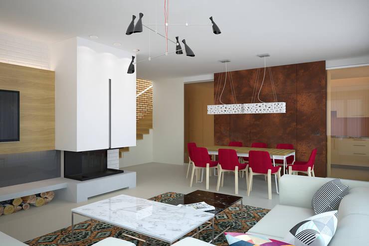 Гостиная в . Автор – дизайн-студия Олеси Середы