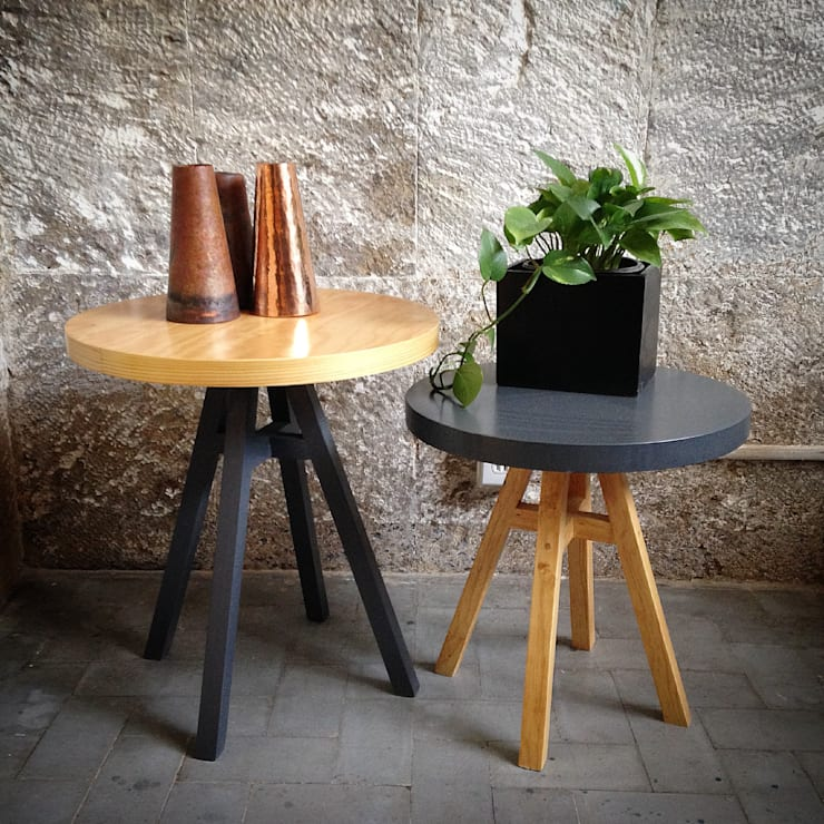 Low Tech: Salas de estilo  por Lilk muebles