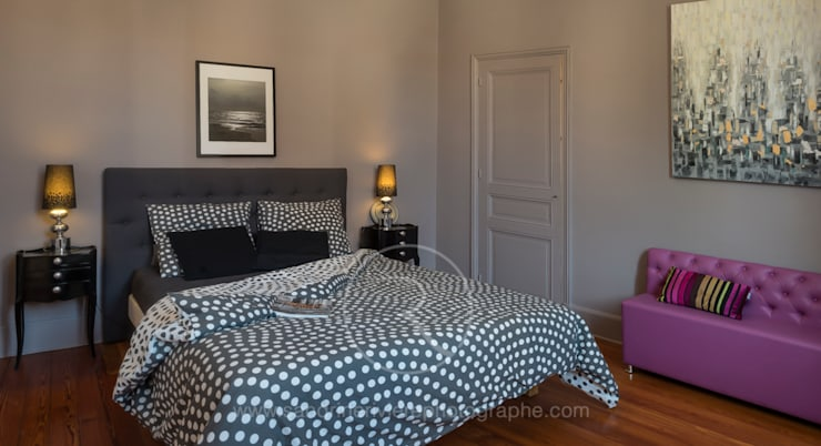 eclectic Bedroom by Sandrine RIVIERE Photographie