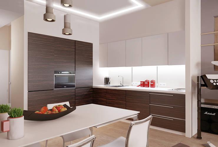 Авеню 77-12: Кухни в . Автор – ООО 'Студио-ТА'