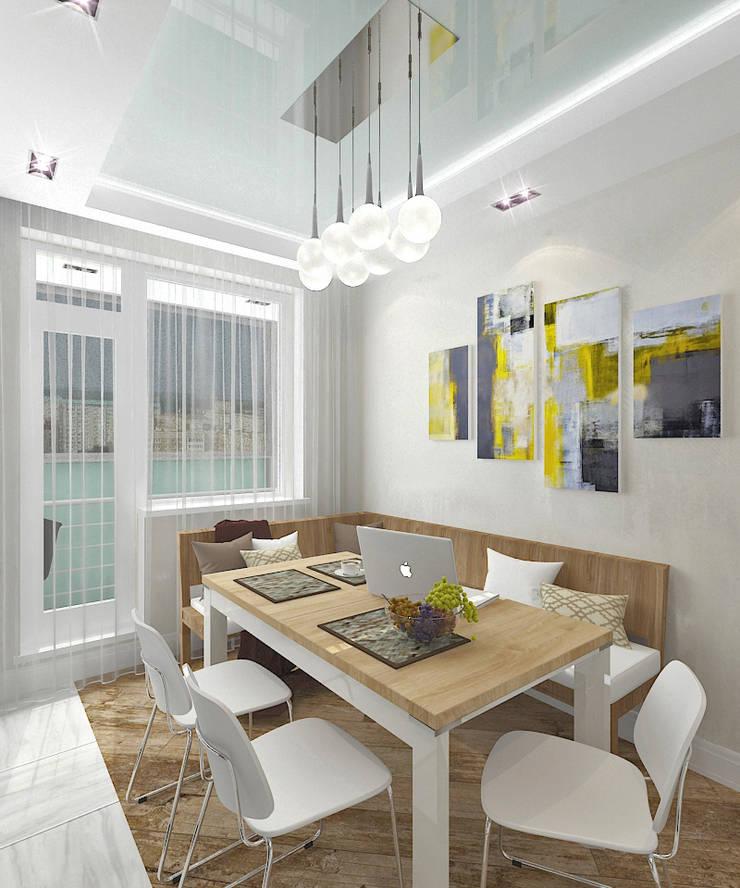 Квартира в элитном жилом комплексе <q>Парус</q>: Кухни в . Автор – Design Rules,