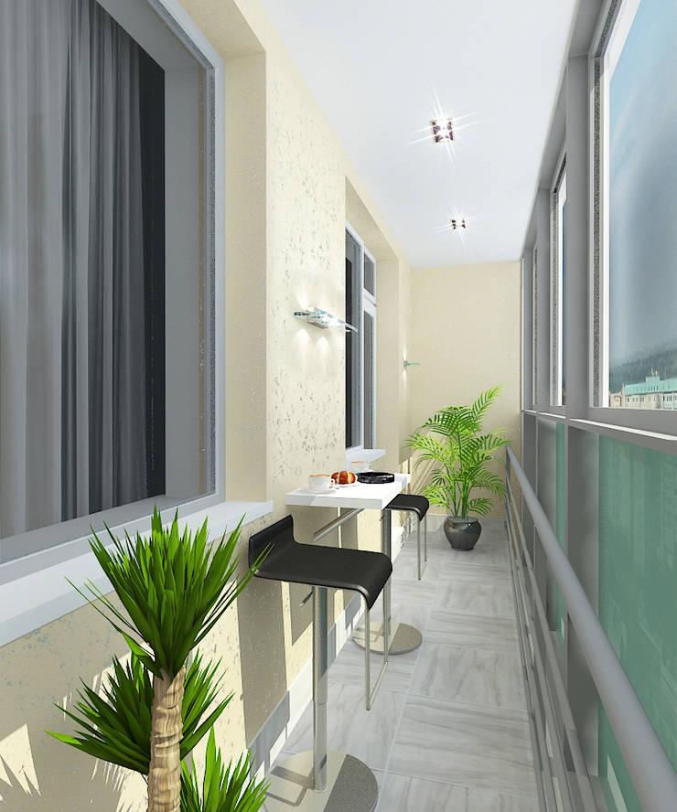 Квартира в элитном жилом комплексе <q>Парус</q>: Tерраса в . Автор – Design Rules,