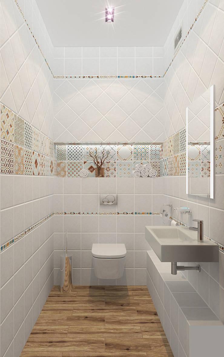 Квартира в элитном жилом комплексе <q>Парус</q>: Ванные комнаты в . Автор – Design Rules,