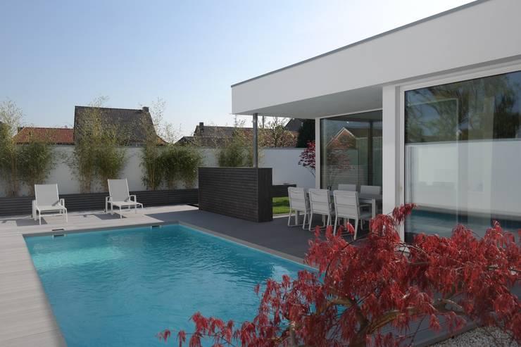 Anbau mit Aussenanlage:  Terrasse von K3- Planungsstudio