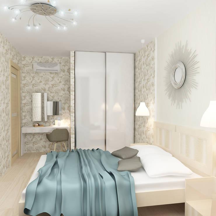 Четырехкомнатная квартира: Спальни в . Автор – Design Rules