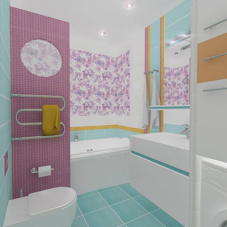 Четырехкомнатная квартира: Ванные комнаты в . Автор – Design Rules,