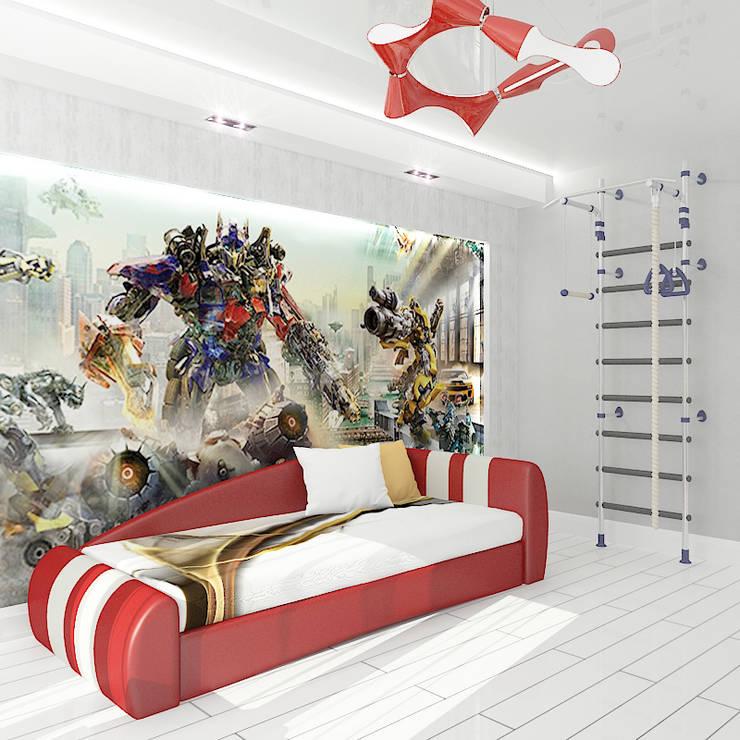 Трехкомнатная квартира в элитном жилом комплексе: Детские комнаты в . Автор – Design Rules,