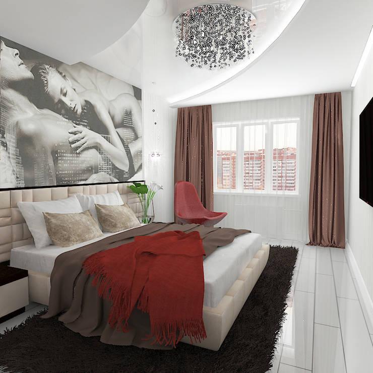 Трехкомнатная квартира в элитном жилом комплексе: Спальни в . Автор – Design Rules,