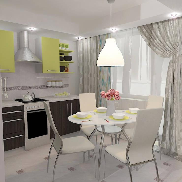 Двухкомнатная квартира в жилом комплексе <q>Онежский дворик</q>: Кухни в . Автор – Design Rules