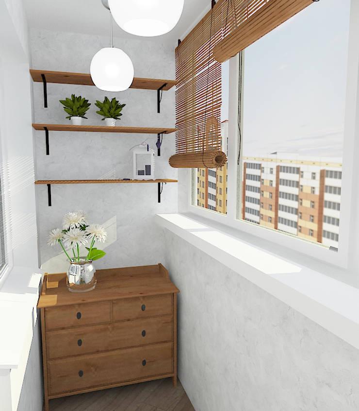 Двухкомнатная квартира в жилом комплексе <q>Онежский дворик</q>: Tерраса в . Автор – Design Rules