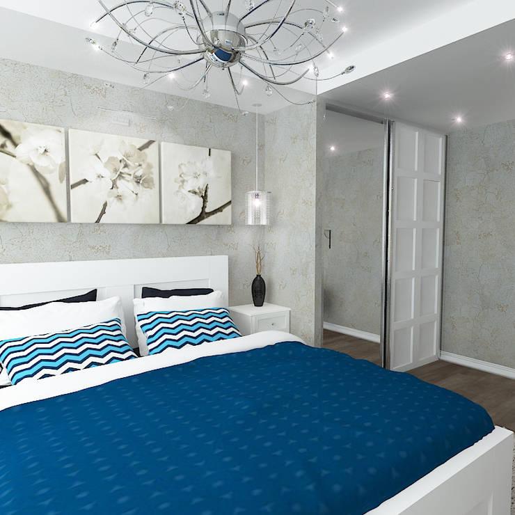 Двухкомнатная квартира в жилом комплексе <q>Онежский дворик</q>: Спальни в . Автор – Design Rules