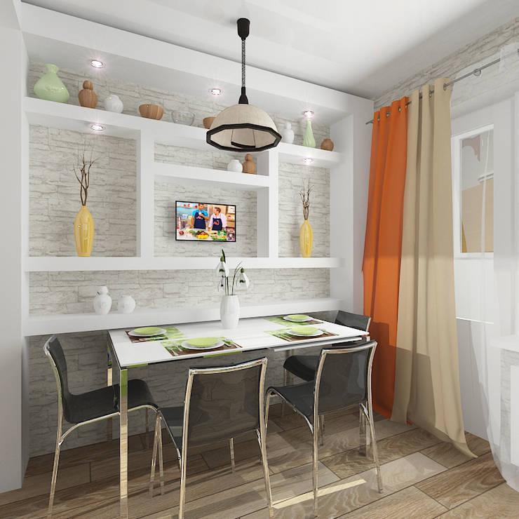 """Двухкомнатная квартира в жилом комплексе """"Юбилейный"""": Кухни в . Автор – Design Rules"""