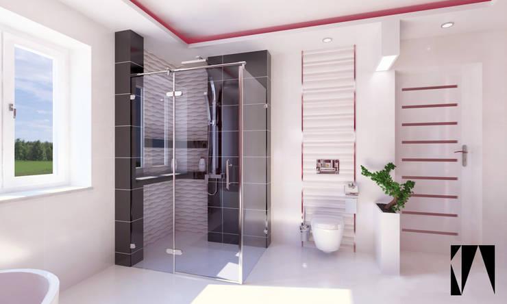 Łazienka: styl , w kategorii Łazienka zaprojektowany przez Katarzyna Wnęk,