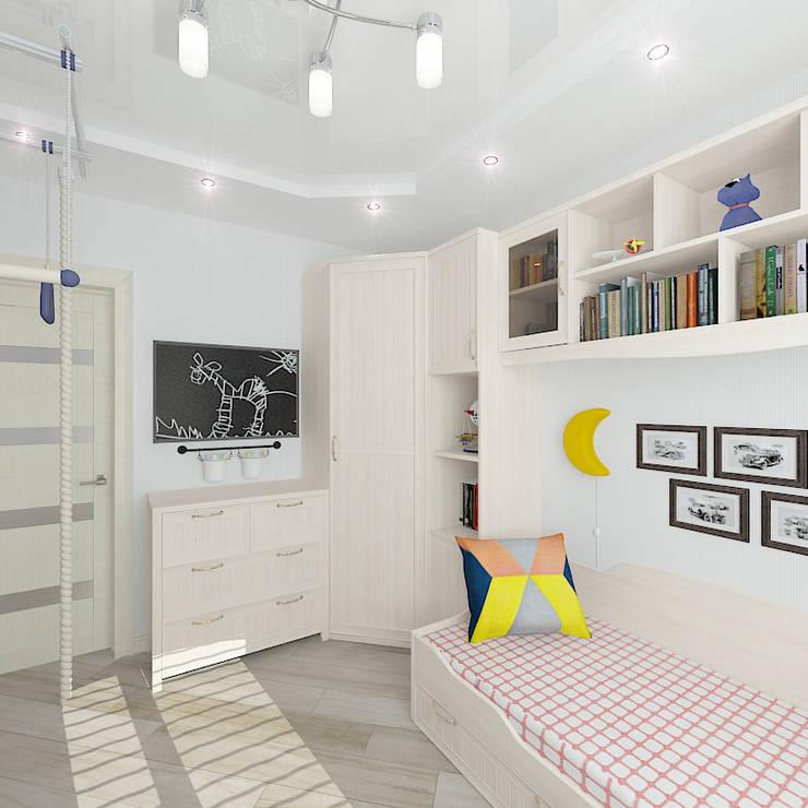 Трехкомнатная квартира: Детские комнаты в . Автор – Design Rules,