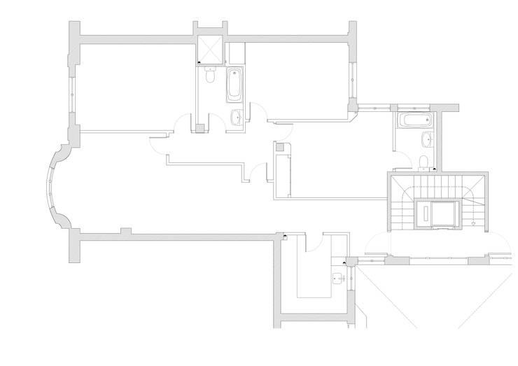 Planta original: Casas de estilo moderno de MADG Architect