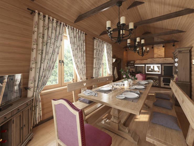Охотничий домик: Гостиная в . Автор – студия дизайна mnDesire