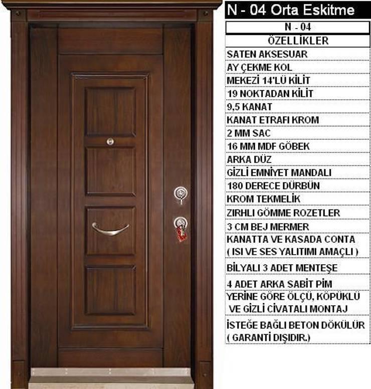 armoni yapı – Çelik Kapı:  tarz Pencere, Modern
