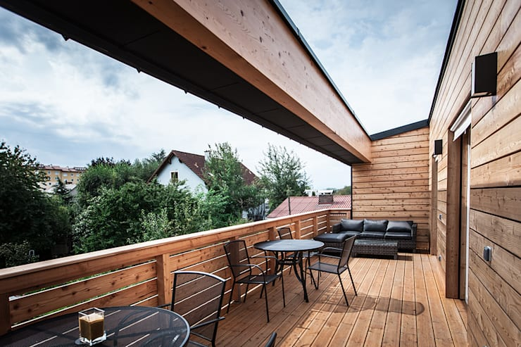 Balkon:  Terrasse von Florian Schober Architektur ZT